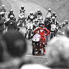 Foggy (Carl Fogarty) Number 1 black and white colour pop by lendale