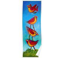 Bird Stack Poster