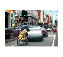 The Brunswick Street Dog Art Print
