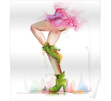 Shoes. Hand painted fashion illustration  Poster