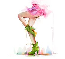 Shoes. Hand painted fashion illustration  Photographic Print
