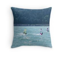 Wind Surfing on the Columbia River  Throw Pillow