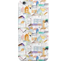 St Ives Coastal Cottages in watercolour iPhone Case/Skin