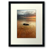 no man is an island.... Framed Print