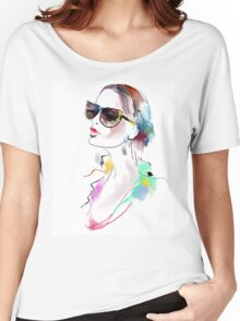 Fashion beautiful woman  Women's Relaxed Fit T-Shirt