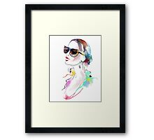 Fashion beautiful woman  Framed Print