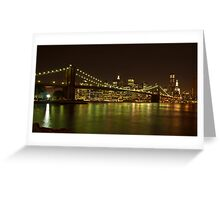 Luci serali a New York Greeting Card