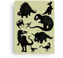 Silhouetted Dinosaurs Canvas Print