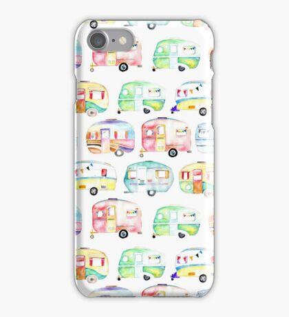 Retro Caravans iPhone Case/Skin