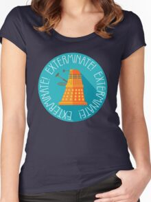Doctor Who Dalek Exterminate! Women's Fitted Scoop T-Shirt