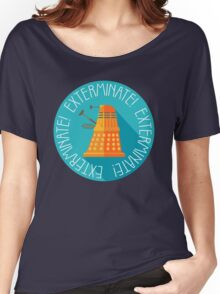 Doctor Who Dalek Exterminate! Women's Relaxed Fit T-Shirt