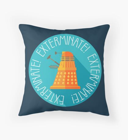 Doctor Who Dalek Exterminate! Throw Pillow