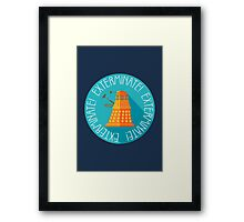 Doctor Who Dalek Exterminate! Framed Print