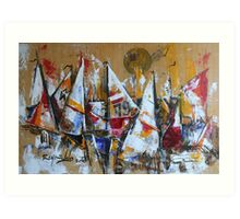 Trim Sails Art Print