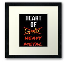 Heart Of Heavy Metal Framed Print