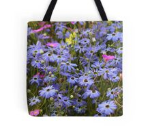Pretty Blue Daisies Tote Bag