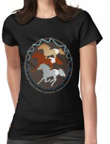 Horse and Shield Womens Fitted T-Shirt