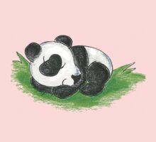 Sleepy Panda Cub Kids Tee