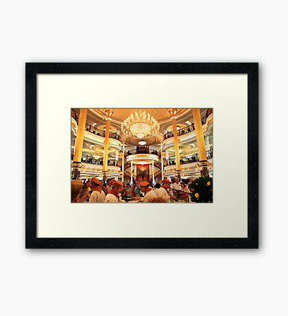 Time for lunch. Adventure of the Seas Cruise. Framed Print