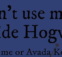 I can't use magic outside Hogwarts - Ravenclaw by TimonPower77