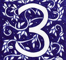 Number Three Blue by Donna Huntriss