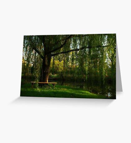 Beneath the Willow Greeting Card