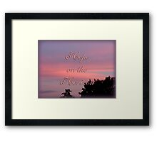 Hope for the cure Framed Print