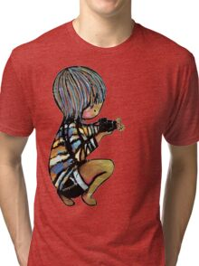 Smile baby macro photography Tri-blend T-Shirt