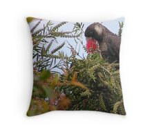 See what I mean about the black cockatoos? Throw Pillow