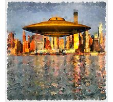 UFO Down River by Raphael Terra Photographic Print