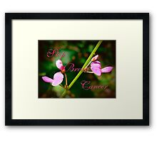 Stop Breast Cancer Framed Print