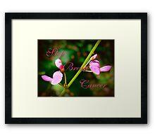 Stop Breast Cancer Framed Print