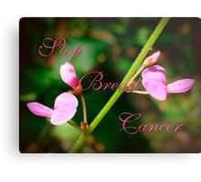 Stop Breast Cancer Metal Print