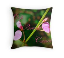 Stop Breast Cancer Throw Pillow