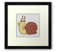 Adventure Time Snail Trance Framed Print