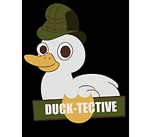 Ducktective: The duck detective Photographic Print