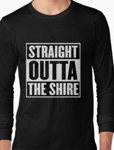 Straight Outta The Shire - Movie Mashup - Hobbit Homeboys - Nerd Humor - Hobbits Long Sleeve T-Shirt