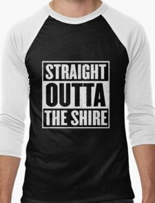Straight Outta The Shire - Movie Mashup - Hobbit Homeboys - Nerd Humor - Hobbits Men's Baseball ¾ T-Shirt