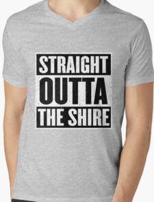Straight Outta The Shire - Movie Mashup - Hobbit Homeboys - Nerd Humor - Hobbits Mens V-Neck T-Shirt