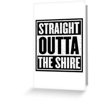 Straight Outta The Shire - Movie Mashup - Hobbit Homeboys - Nerd Humor - Hobbits Greeting Card