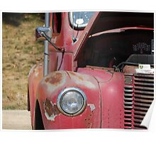 Got Rust?  This Red truck does. Poster