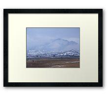 Winter Snowstorm on Bullrun Framed Print