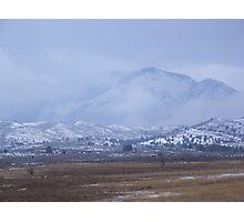 Winter Snowstorm on Bullrun Photographic Print
