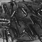 Saxophones. 2010. Black and White  by Igor Pozdnyakov