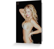 Nice Blond Girl Greeting Card