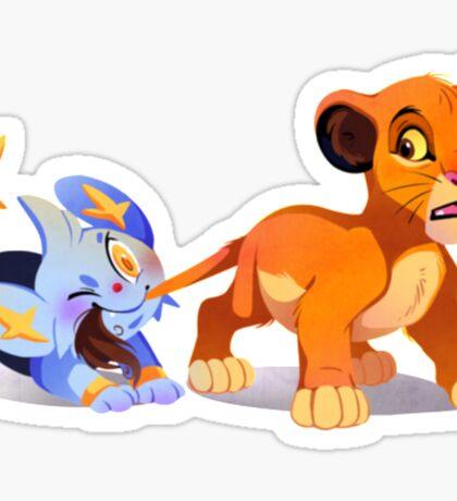 Simba and Shinx Sticker