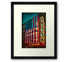 The Big Big Flag, New York City Framed Print