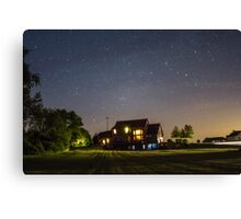 Stars over a Home Canvas Print