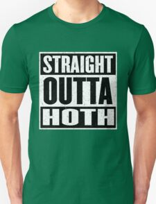 Straight Outta Hoth - Movie Mashup - Rebels in the Hood - Science Fiction Nerdy Humor T-Shirt