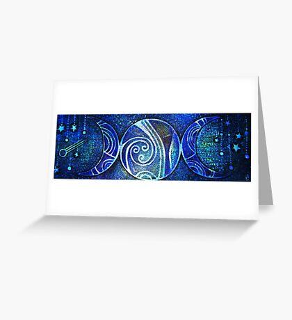Triple Moon -Goddess Design Greeting Card
